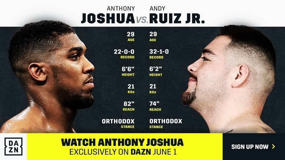 Anthony Joshua vs Andy Ruiz betting odds02