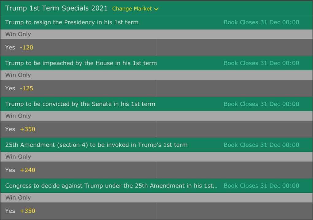 Donald Trump 1st Term Specials